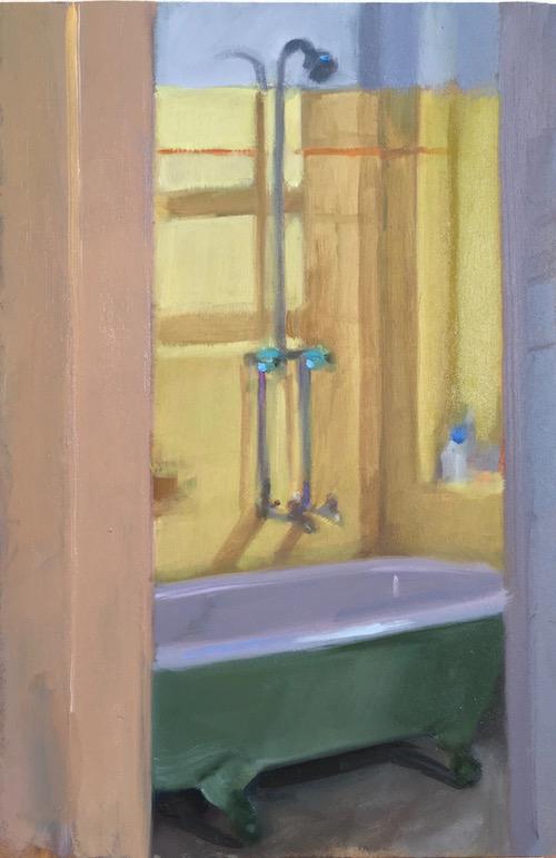 Bathroom 30x20 cm oil:timber 2016.jpg web