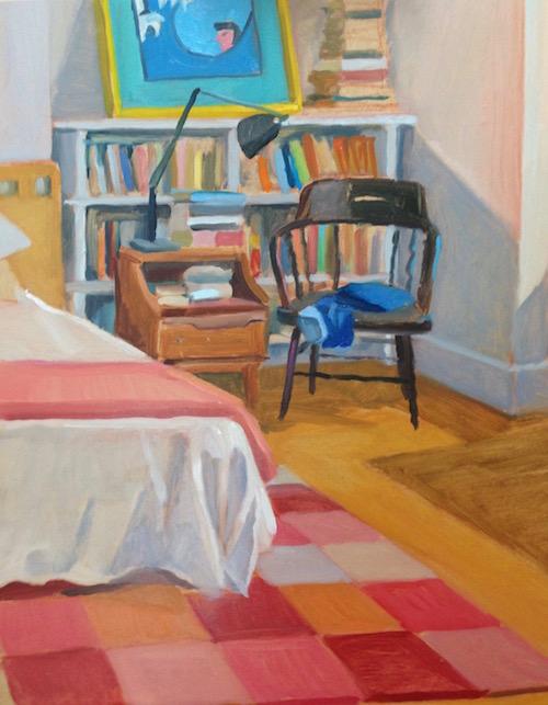 Bedroom 30x25 cm oil:timber 2014