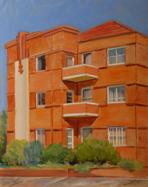 Botany Rd Bondi Junction #2 30x20cm oil:board framed 2012 copy
