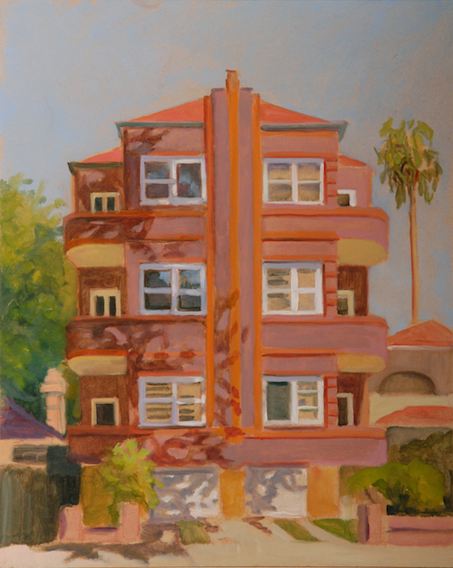 Cross St Double Bay 30c20cm 2012 oil:timber