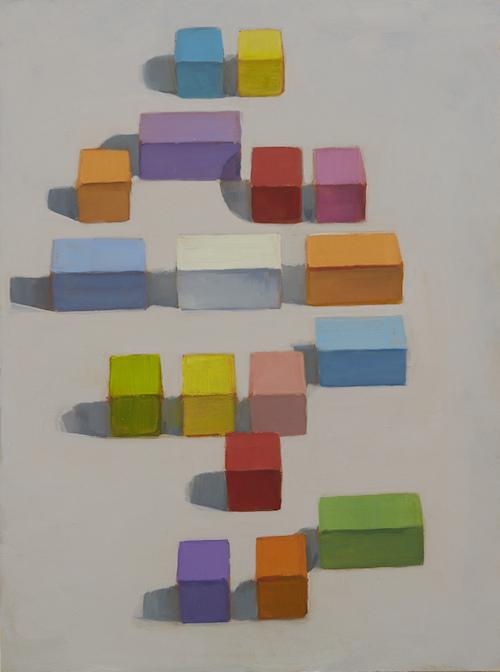 P.Metcalf 'Block Party' # 5 2013  40x30cm Oil:timber Framed copy