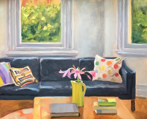 Summer Room 25x30cm oil:board 2014 for website