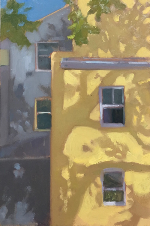 Woollahra Plane Trees30x20cm oil:mdf 2016 copy