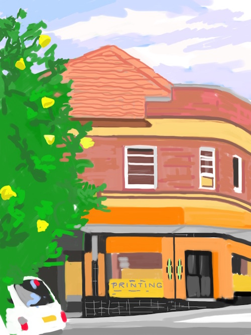Corner, North Bondi  Digital Drawing